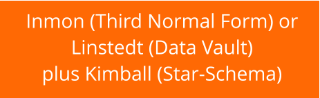 Inmon (Third Normal Form) or  Linstedt (Data Vault) plus Kimball (Star-Schema)